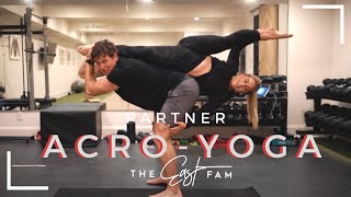 """romantic"" couples acro yoga 