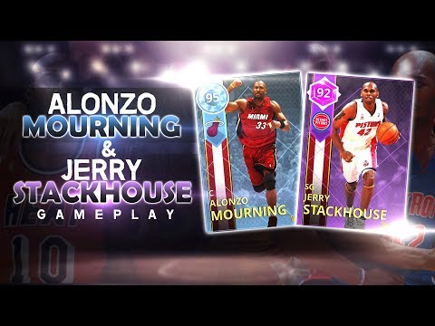 DIAMOND ALONZO MOURNING & JERRY STACKHOUSE GAMEPLAY!! ALONZO DROPS 35+, HE IS THE POST GOD!!!