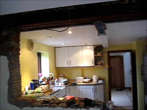 Wall Removal Two Rooms Into One Part 60