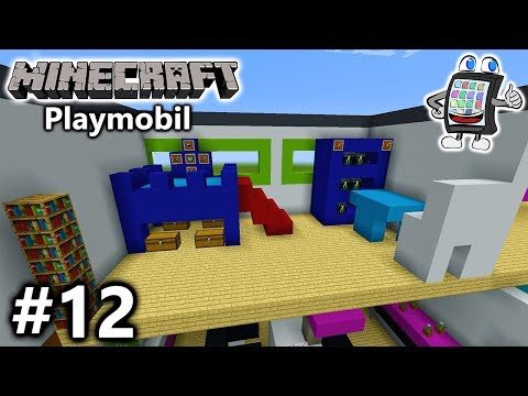 MINECRAFT Playmobil Luxusvilla bauen #12 - JULIAN VOGEL NEUES ZIMMER MIT BURGBETT - Let's Build