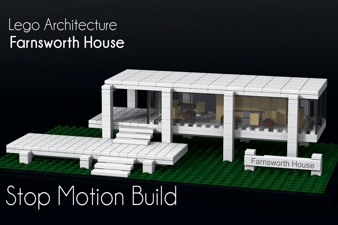 Farnsworth house lego architecture stop motion build for Home architecture you tube