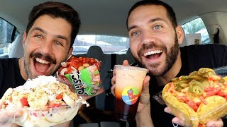 TRYING AUTHENTIC MEXICAN SNACKS MUKBANG with JOSH PECK!!