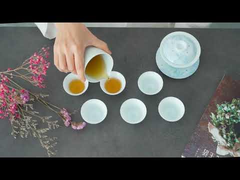 日式有田燒海波浪茶具組