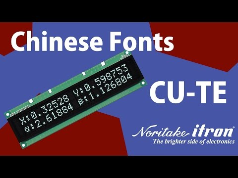 Noritake VFD: CU Modules - High Brightness Chinese Fonts POS