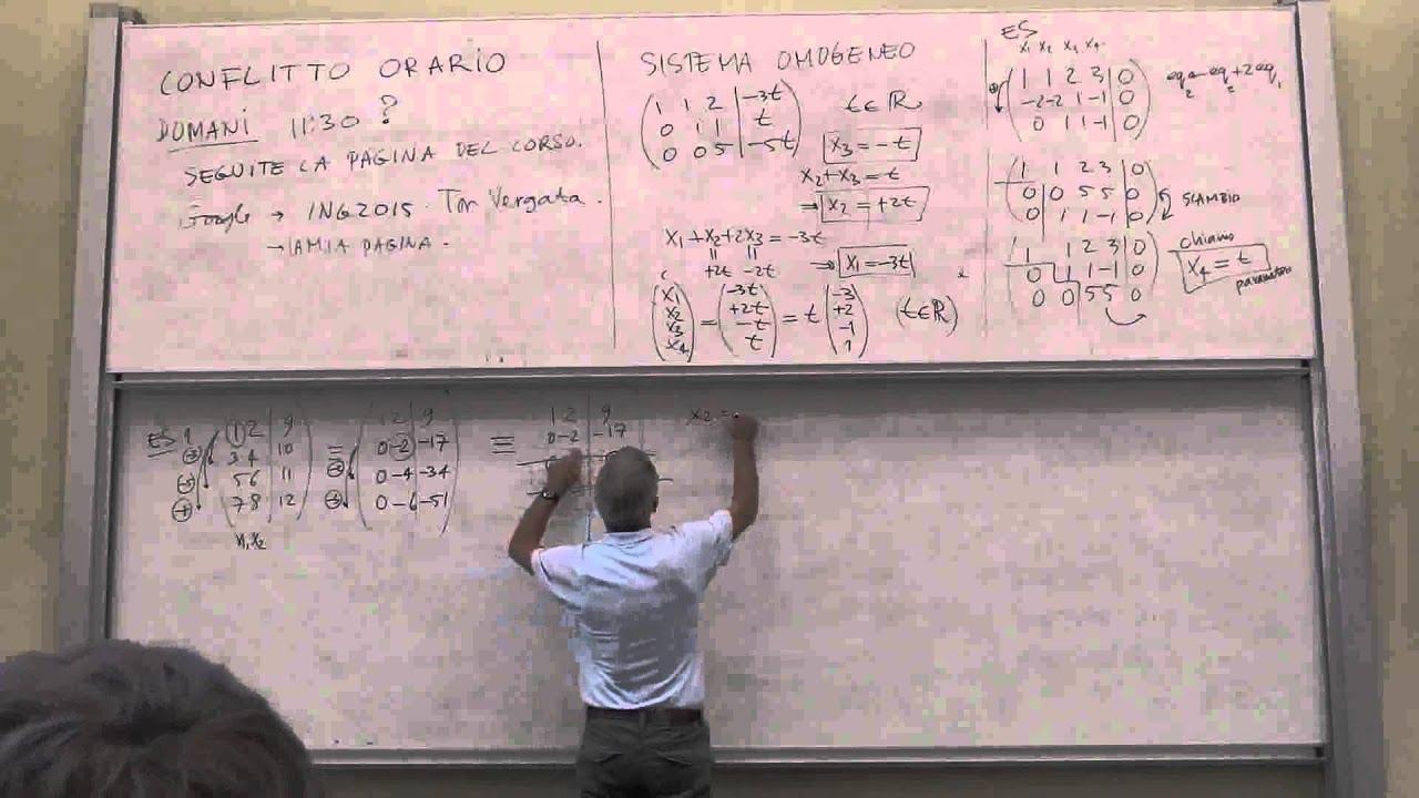 Calendario Lezioni Tor Vergata Ingegneria.Lezione 1 4 Geometria Ingegneria Tor Vergata 2014