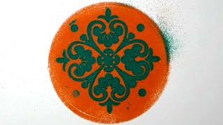 DIY - Diwali Decoration Rangoli / Beautiful Rangoli Designe/ How to make Rangoli / Rangoli Designe.