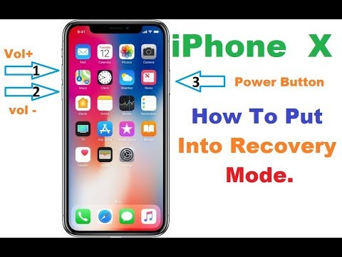 iPhone X How To Put On DFU Mode, Recovery Mode Flashing Done,  YouTube