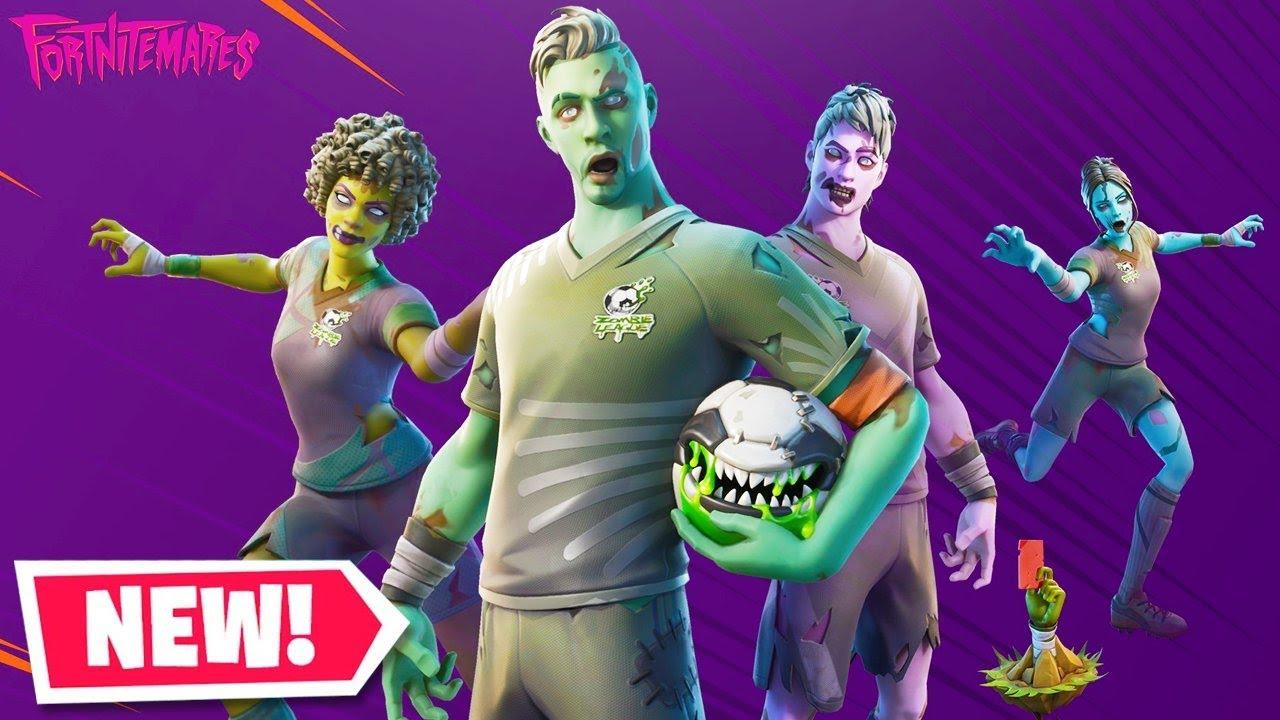 The New Zombie Soccer Skins In Fortnite