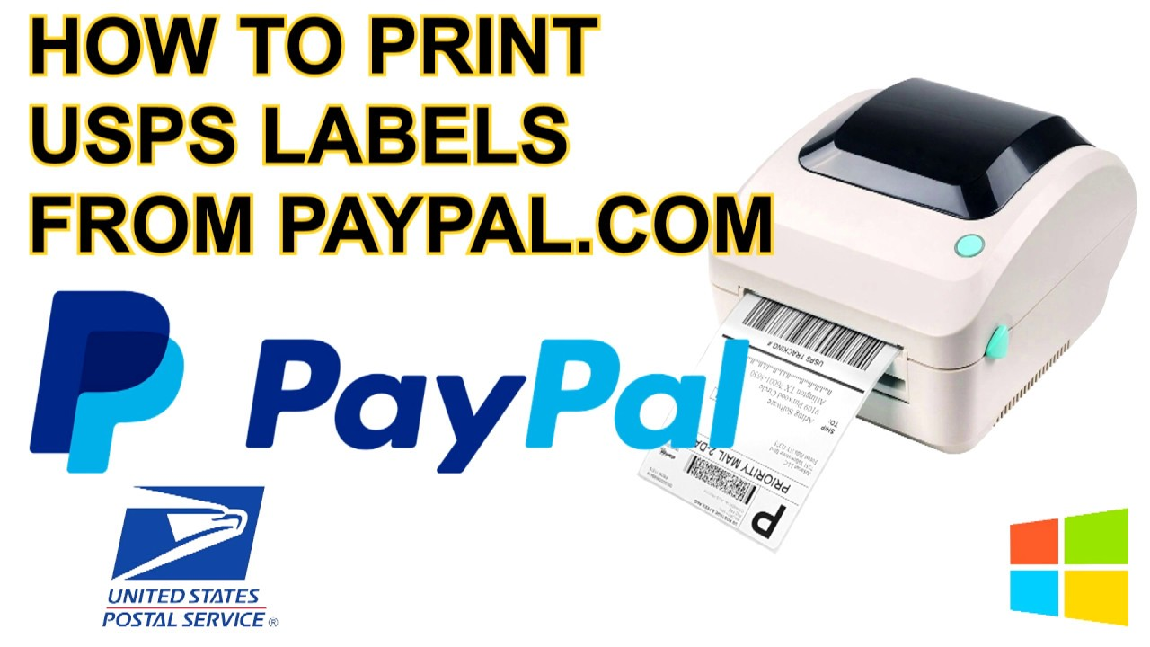 How to Print 4x6 Shipping Label for USPS Postage from Paypal com instead of  USPS com on Windows
