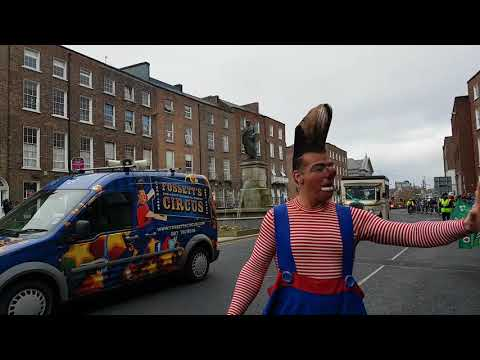 Saint Patrick day parade celebrations in Limerick City Ireland March 2018