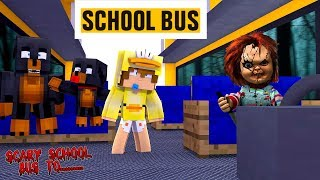 Minecraft SCARY SCHOOL BUS TO.......CHUCKY SCHOOL!! - Donut the Dog