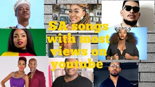 Top 20 South African songs with most views on youtube 2013 - present