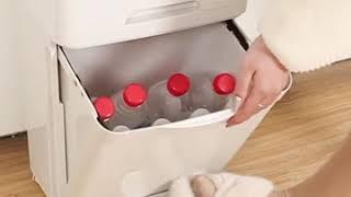 자동 센서 이동식 대용량 가정용 재활용 분리수거함 쓰레…