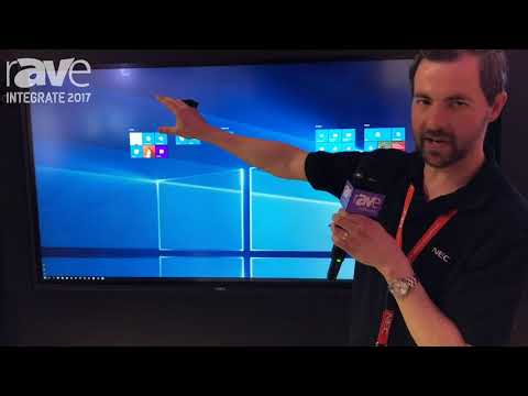 Integrate 2017: NEC Display Demos Infinity Board All-in-One Collaboration Solution