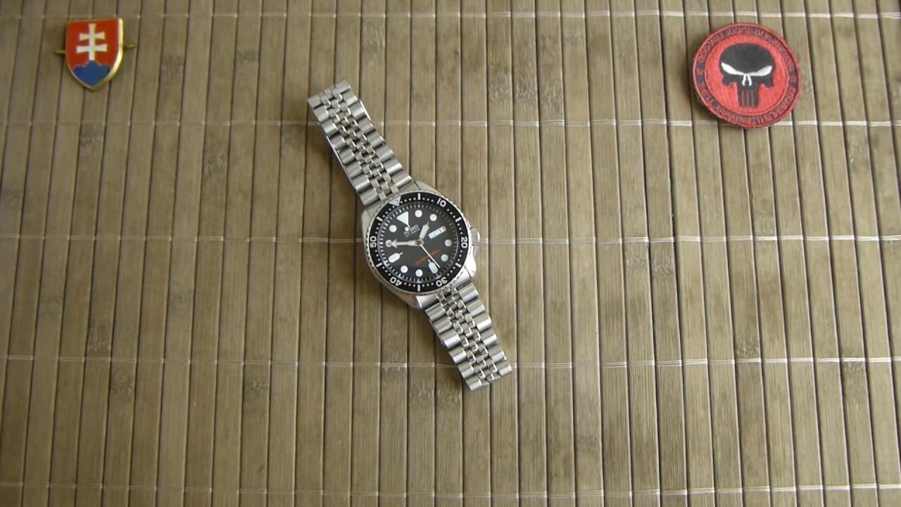 Seiko Skx007k2 Divers Automatic Watch Youtube 200m Black Dial