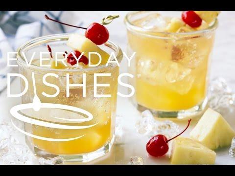 Pineapple Fizz Vodka Cocktail
