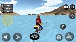 Beach Water Surfer Dirt Bike - Xtreme Racing Games Gameplay