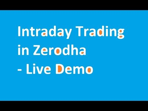 Zerodha live trading