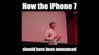 Funny Video - Apple CEO – Introducing iPhone 7
