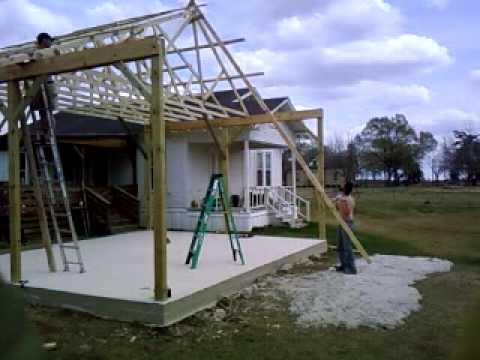 How To Put Up A Truss Youtube