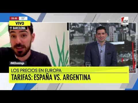 Precios España vs Argentina: Luz, gas, agua, internet, nafta, teléfono