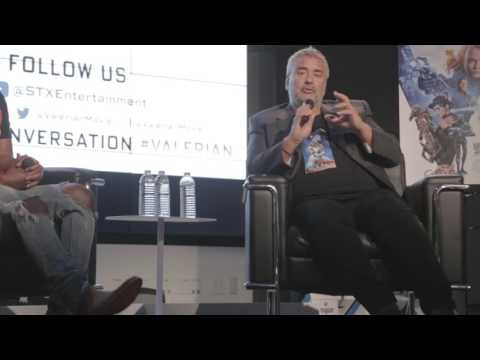 Luc Besson Valerian City of 1000 Planets Scifi Movie Panel Talk Q&A Director
