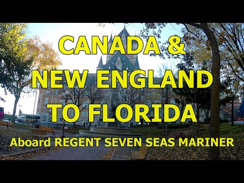 Seven Seas Mariner, Canada & New England to Florida Cruise, October 2017