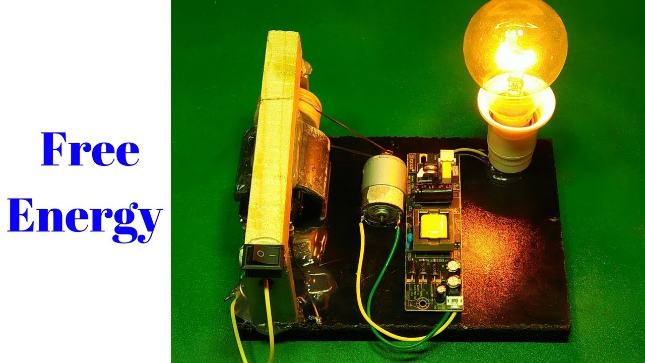 Free Energy Generator With Drill Machine Rotary Dc Motor And Magnet New Technology