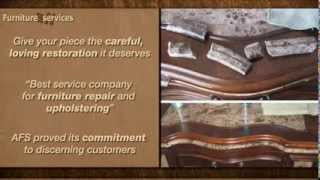 All Furniture Services® Antique and Modern Wood Fabric Leather Ceramic Glass Restore Repair Finish
