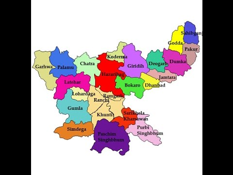 Jharkhand map  YouTube