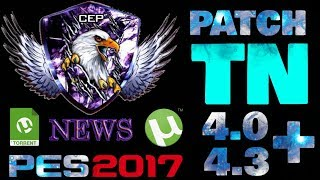 PESTN PATCH 4.0 + 4.3 DOWNLOAD PES 2017 PC