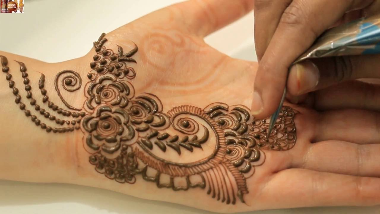 Designs Of Mehndi For Palm : How to apply gulf mehendi designs on palm dubai rose petals mehndi
