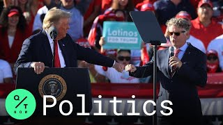 Speaking at a campaign rally in arizona on wednesday, president donald trump was praising gov. doug ducey for his decision to open up businesses afte...
