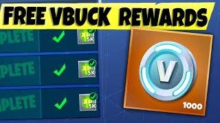 NEW Fortnite FREE VBUCK Challenges...