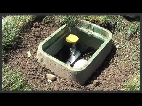 How To Install A Lawn Sprinkler Quick Coupler Valve Youtube