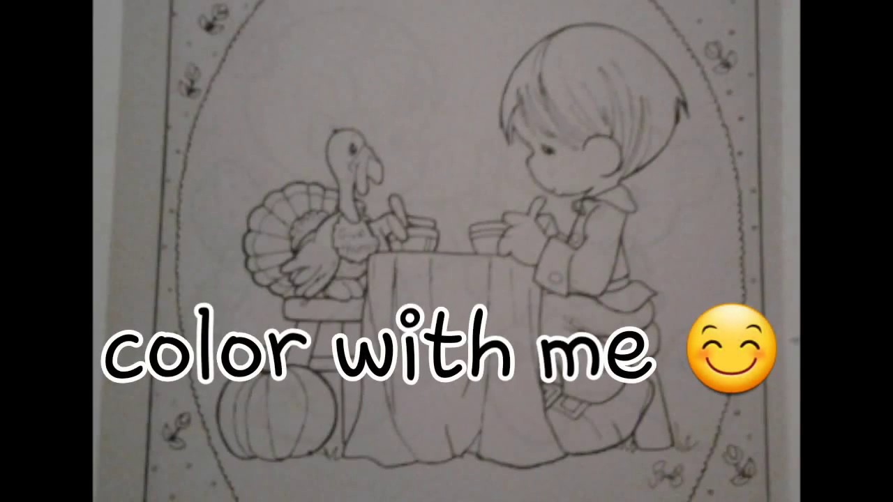 precious moments coloring page color with me youtube