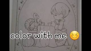 Precious Moments coloring page / color with me 📕✍