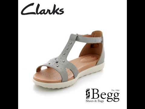 0d4a4ea316e6 Clarks Un Reisel Mara D Fit Pewter sandals - YouTube