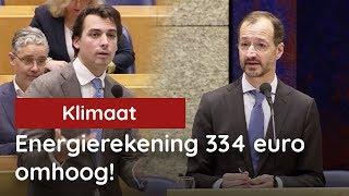 Baudet vs Wiebes; Energierekening met 334 euro omhoog!