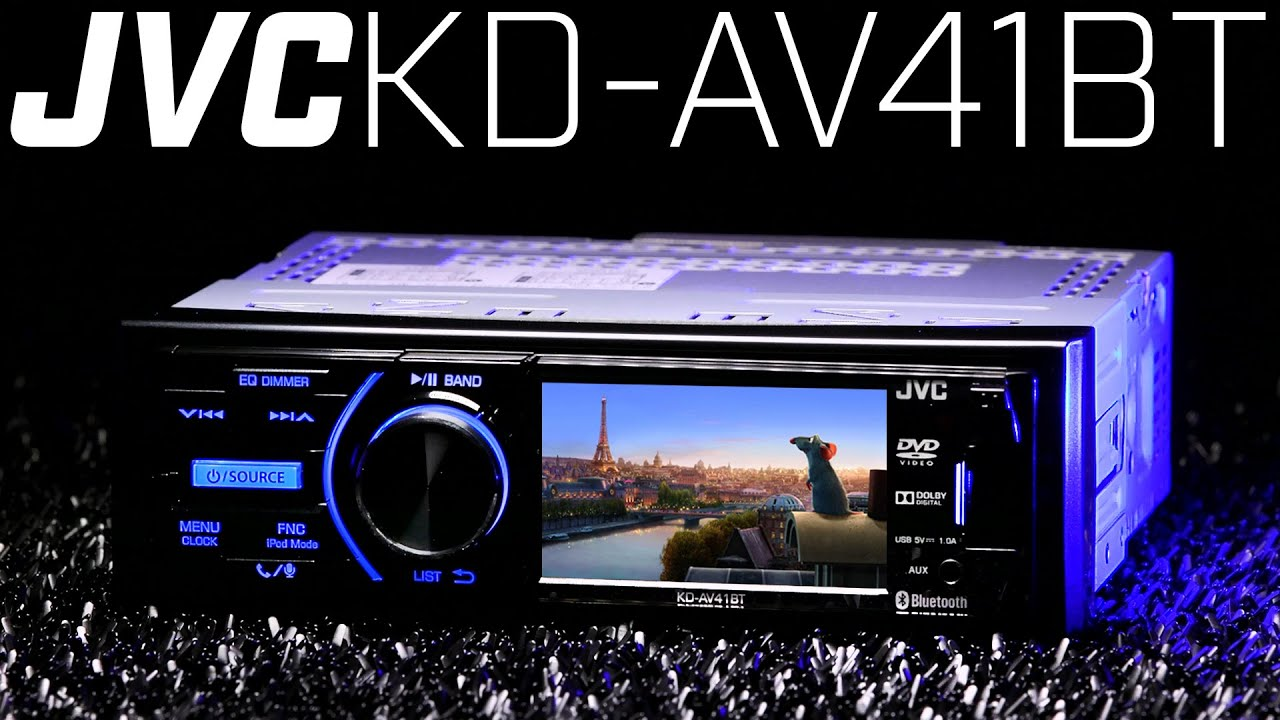 jvc kd av41bt single din dvd bluetooth receiver must see. Black Bedroom Furniture Sets. Home Design Ideas
