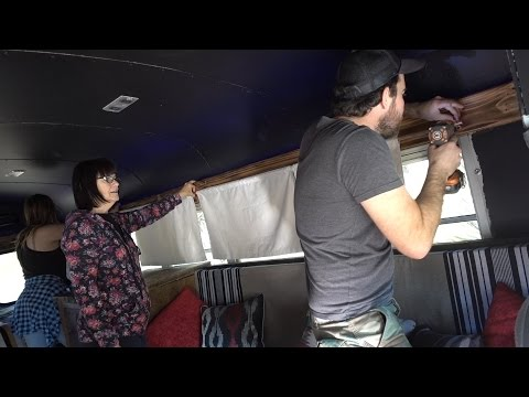 CUSTOM COPPER PIPE CURTAIN RODS IN TINY HOUSE!! VLOG 143