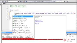 Học Lập Trình C/C++: Bài 3 - Tạo Project, chạy thử chương trình đầu tiên