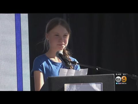Greta Thunberg, Billie Eilish Attend Youth Climate Strike At Los Angeles City Hall