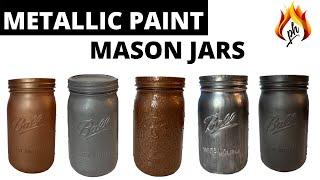 DIY Mason Jar Metallic Paint Colors | Home Decor Crafts