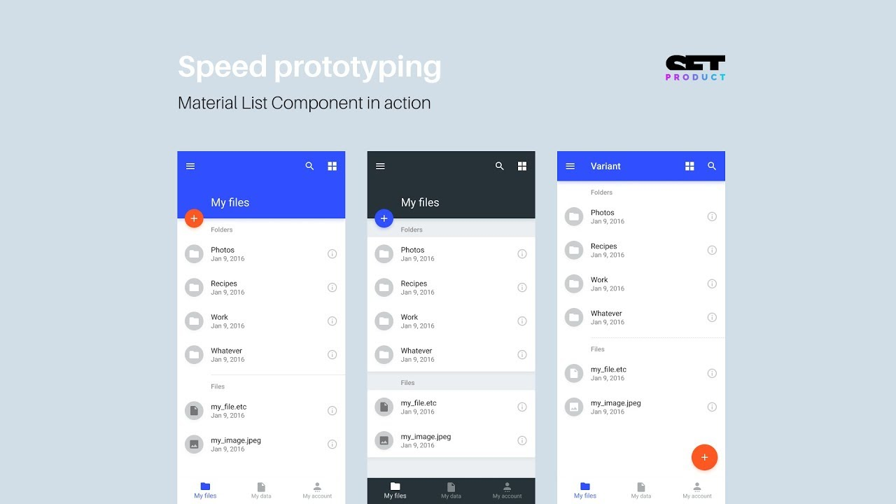 Figma Android Kit  Prototype of folders list for the application