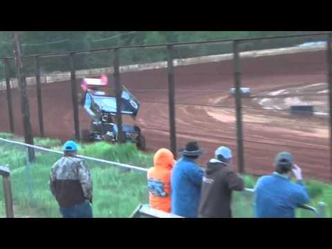 Sabine motor Speedway 305 sprint car hot laps part 2 3/19/16