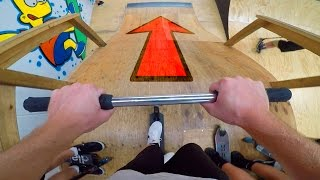 PRO SCOOTER TRICKS AT AUSTRALIAN INDOOR SKATE PARK