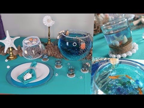 DIY Centerpiece And Tablescape | Under The Sea Wedding