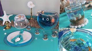 DIY Centerpiece and Tablescape | Under the Sea Wedding