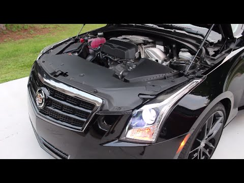 Cadillac ATS 2.0T ZZP Intake Tube w/K&N drop in - YouTube